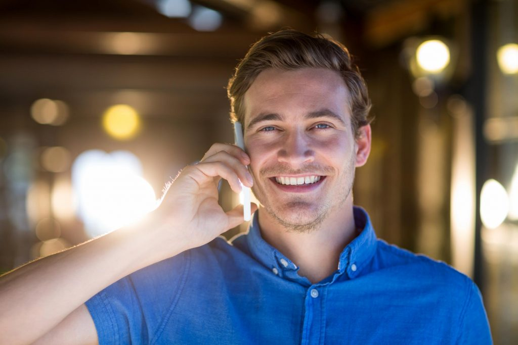 man calling on a phone